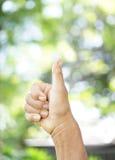 Prawa ręka dźwignięcie języka ciała tło i tekstura Obrazy Royalty Free