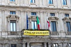 Prawda dla Giulio Regeni zdjęcia royalty free