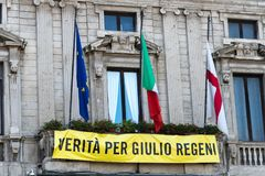 Prawda dla Giulio Regeni zdjęcia stock