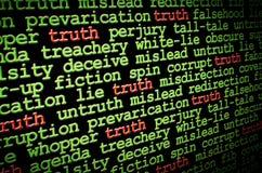 Prawdy amonst kłamstwa Fotografia Royalty Free