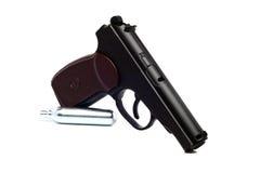 Prawdziwa kopia zakurzony lotniczy pistolet fotografia stock