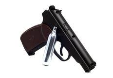 Prawdziwa kopia zakurzony lotniczy pistolet fotografia royalty free