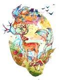 prawdziwa las Ilustracja Wektor