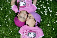 prawdziwe bliźniaki Fotografia Royalty Free