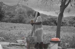 Prawdziwy Afrykański tradycyjny woman& x28; Zimbabwean& x29; Zdjęcia Royalty Free