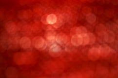 Prawdziwy bokeh czerwieni tło Obraz Stock