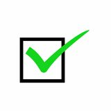 Prawdziwy czek oceny wektorowy projekt Obraz Royalty Free