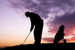 prawdziwy golfiarz Fotografia Stock