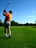 prawdziwy golfiarz Obrazy Stock