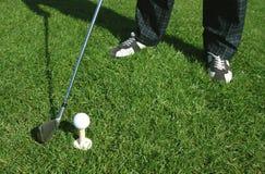 prawdziwy golfiarz Fotografia Royalty Free