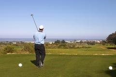 prawdziwy golfiarz Obraz Stock