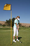 prawdziwy golfiarz kobieta Obrazy Royalty Free