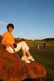 prawdziwy golfiarz lady Fotografia Royalty Free
