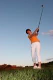 prawdziwy golfiarz lady Zdjęcie Royalty Free