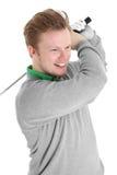 prawdziwy golfiarz szczęśliwy Obrazy Royalty Free