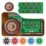 prawdziwy kasyna ruletki sesja strzały stół Zdjęcia Royalty Free