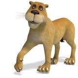 prawdziwy kreskówka lew śliczny żeński śmieszny ilustracja wektor