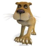 prawdziwy kreskówka lew śliczny żeński śmieszny royalty ilustracja