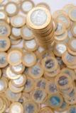 prawdziwy monety Zdjęcia Stock