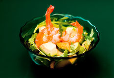 Prawn asian salad Royalty Free Stock Photo