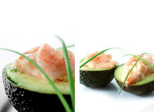Prawn and Avocado Appetiser Royalty Free Stock Photography