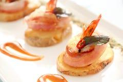 Prawn And Bacon Potato Stock Images