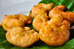 Prawn balls. Yummy deep fried prawn balls Stock Photos