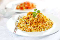 Prawn Biryani Royalty Free Stock Images