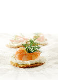 Prawn Canape Royalty Free Stock Photography