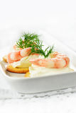 Prawn Canape Stock Images