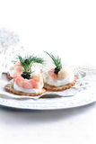 Prawn Canapes Royalty Free Stock Image