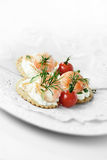 Prawn Canapes Royalty Free Stock Photo