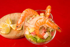 Prawn cocktail closeup Royalty Free Stock Image