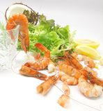 Prawn Cocktail Salad. In the making Royalty Free Stock Photography