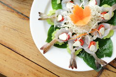 Prawn cocktail salad Royalty Free Stock Image