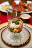 Prawn cocktail. Served in a glass Royalty Free Stock Photo