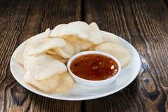 Prawn Crackers (Krupuk) Royalty Free Stock Photo