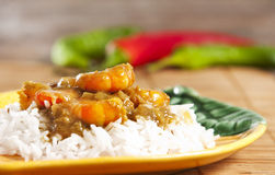 Prawn Curry Stock Photo