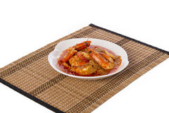 Prawn curry. In a bowl Royalty Free Stock Photo