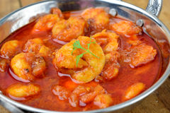 Prawn Curry. Indian Prawn Curry with tomato gravy Royalty Free Stock Image