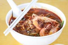 Prawn Curry Mee Stock Photo