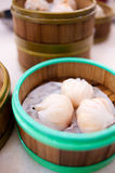 Prawn dim sum dumplings. An image of steam dim sums Stock Photography