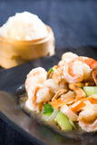 Prawn dish Stock Images