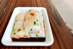 Prawn dumpling. Traditional chinese prawn dumpling with sauce Stock Images
