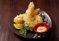 Prawn Ebi tempura bowi Stock Photo