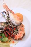 Prawn food. Fresh water prawn food cuisine Stock Photography