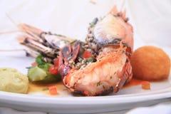Prawn food. Fresh water prawn food cuisine Royalty Free Stock Image