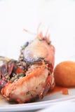 Prawn food. Fresh water prawn food cuisine Royalty Free Stock Photos