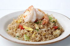Prawn fried rice Royalty Free Stock Images
