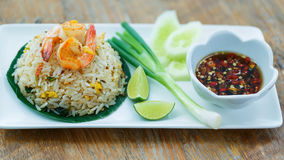 Prawn fried rice. Stock Images